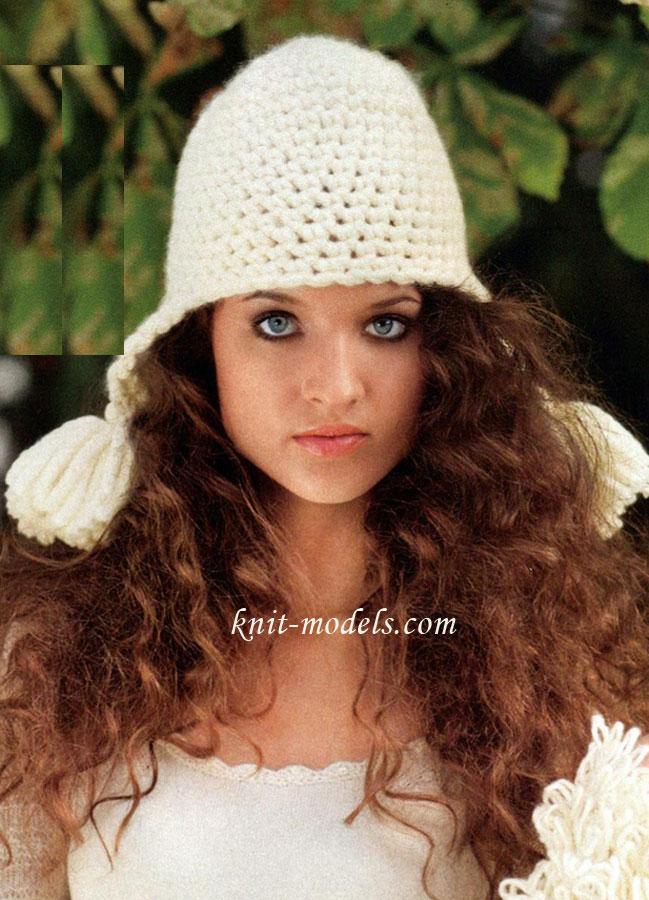 Вязание на спицах объемных шапок