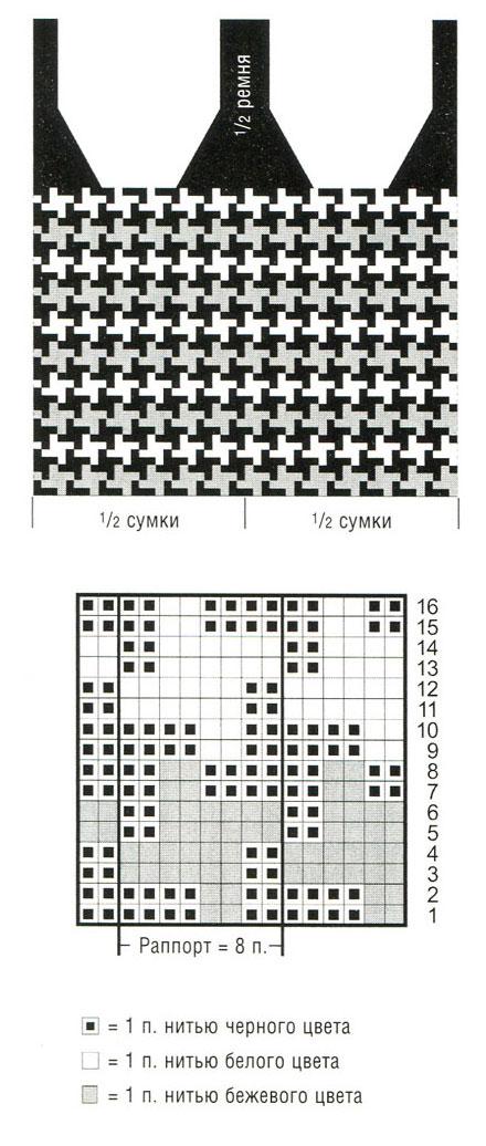Схема вязания топов маек туник 50
