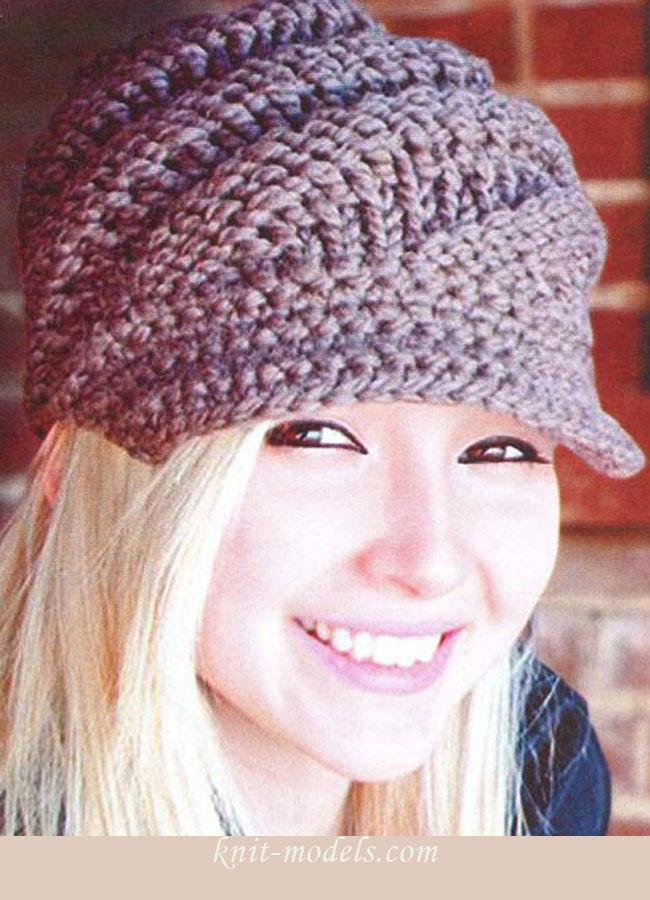 Часть 32 - Женская вязаная шапочка. спицами для женщин схемы вязания спицами шапки спицами вязание спицами схемы