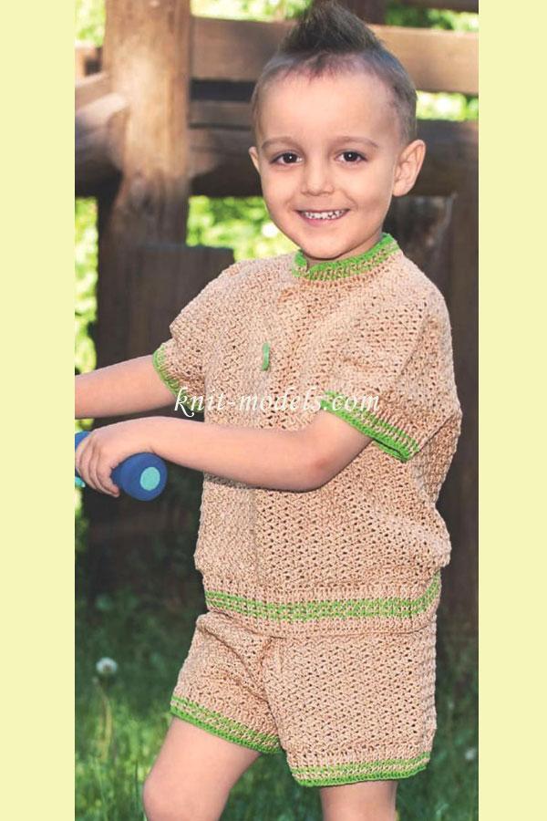 Вязание спицами свитера на мальчика 3 года 374