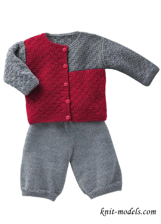 Детский костюм: кофточка и штанишки