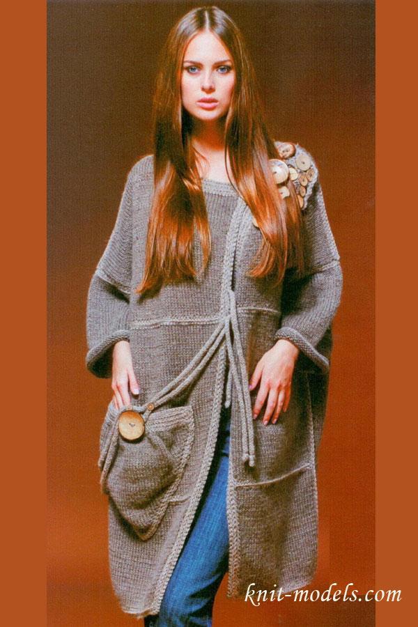 жакеты бохо вязание