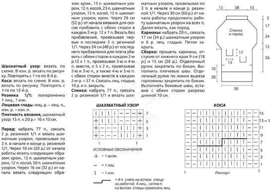 Пончо схема вязания спицами для девочек 5